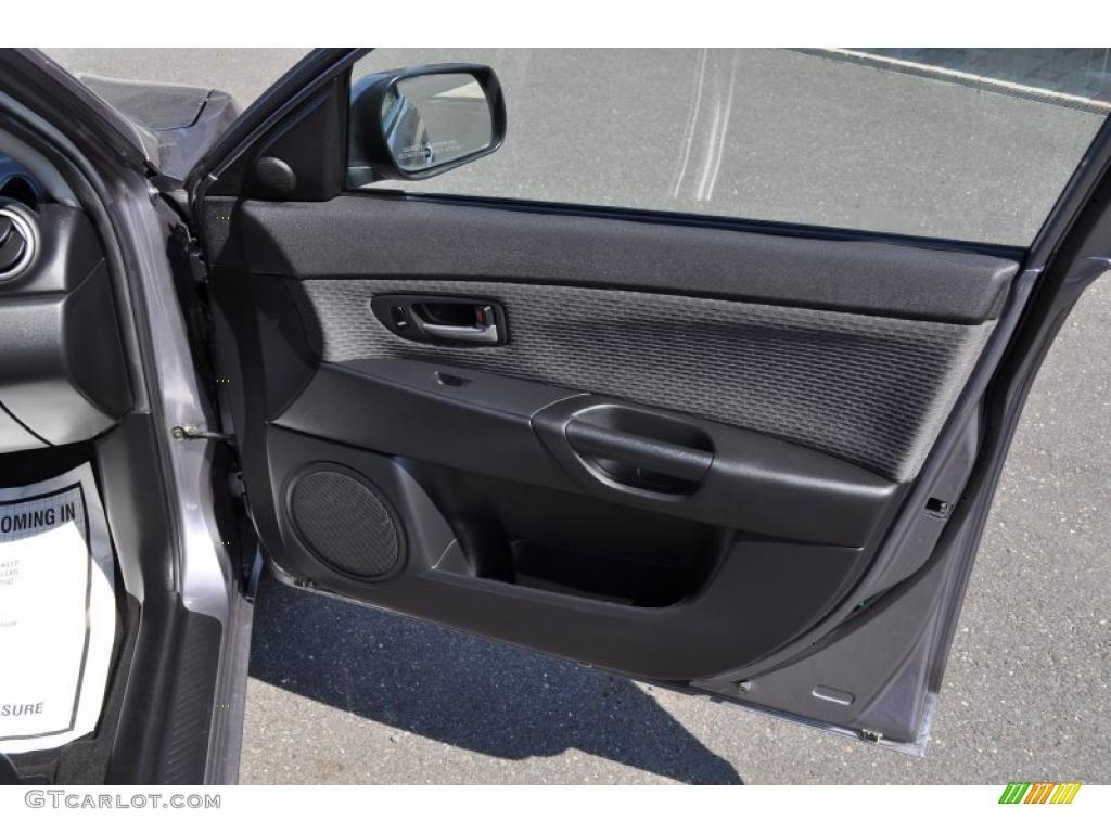 2005 Mazda Mazda3 I Sedan Black Door Panel Photo 49824102