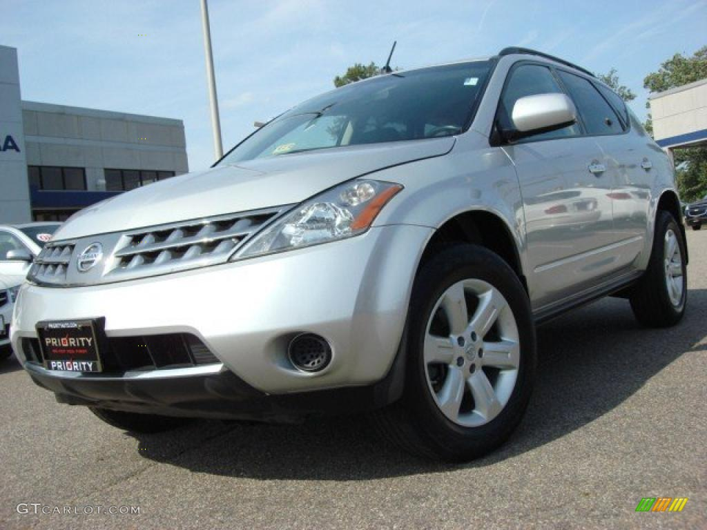2007 Murano S - Brilliant Silver Metallic / Charcoal photo #1