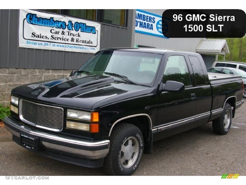 1996 Black Gmc Sierra 1500 Slt Extended Cab 49799176