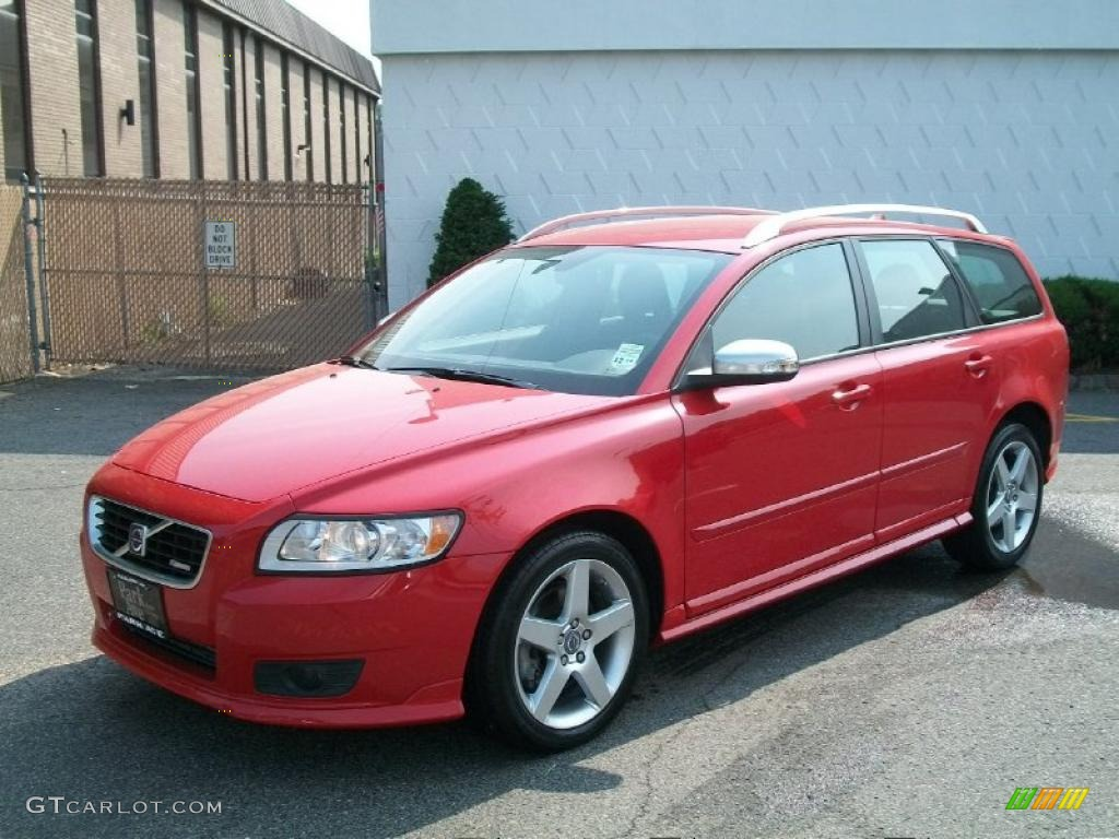 Passion Red 2010 Volvo V50 T5 R Design Exterior Photo