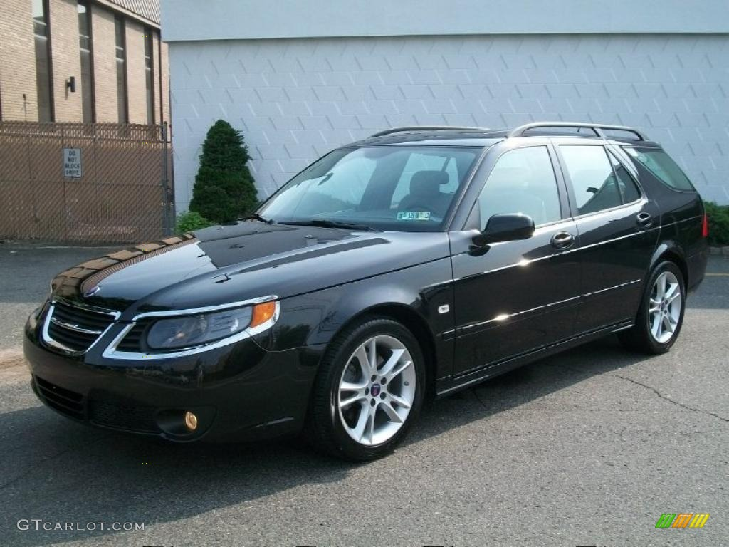Jet black metallic saab 9 5