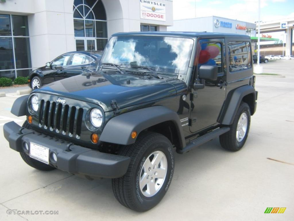 2011 Wrangler Sport S 4x4 - Natural Green Pearl / Black photo #1
