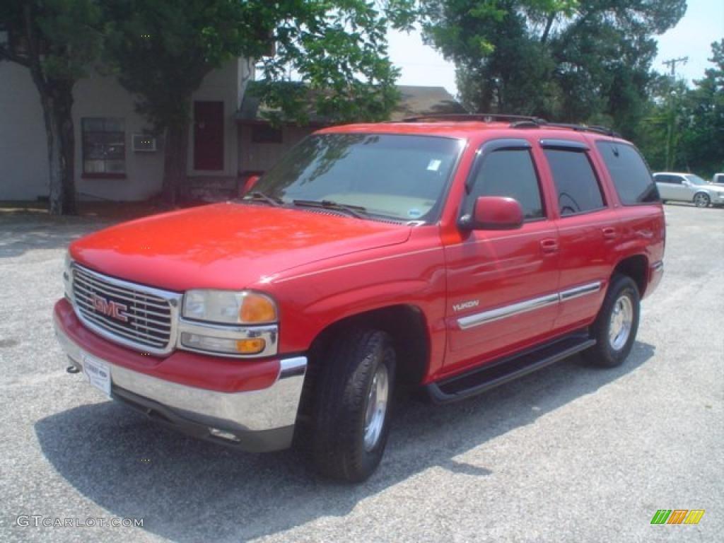 2000 fire red gmc yukon slt 4x4 49799519 car color galleries. Black Bedroom Furniture Sets. Home Design Ideas