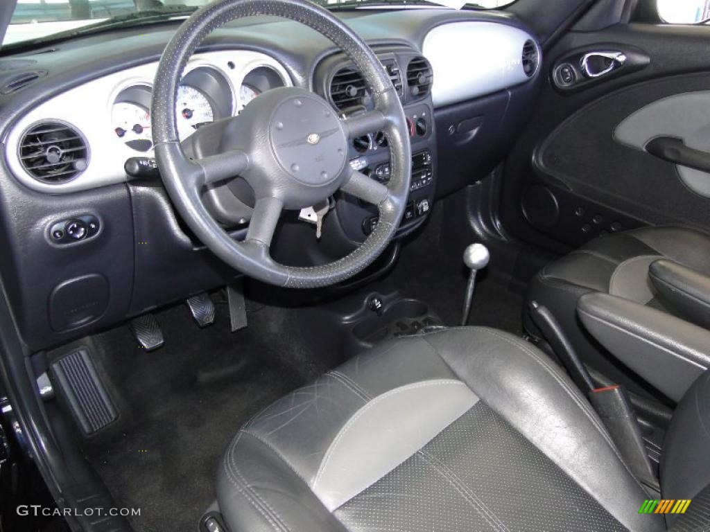 Dark slate gray interior 2005 chrysler pt cruiser gt for Dark grey interior