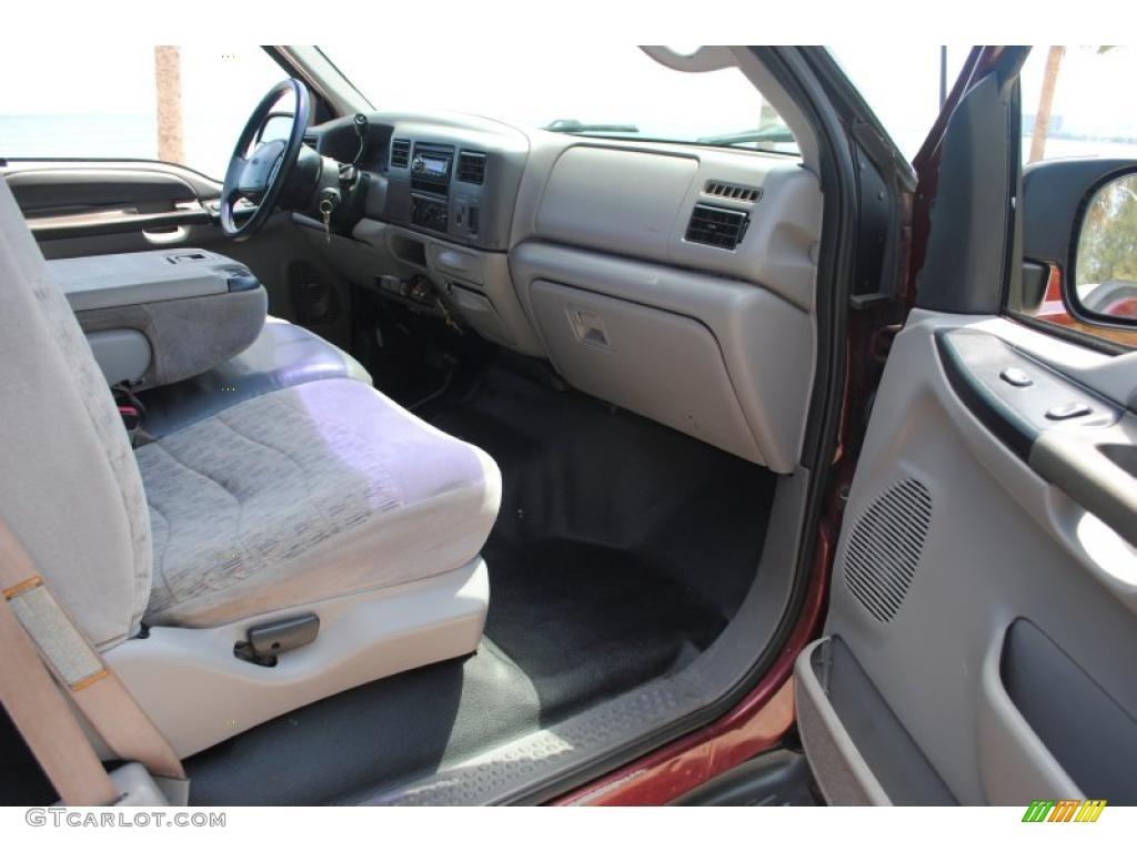 medium graphite interior 1999 ford f350 super duty xlt supercab 4x4 photo 49876349