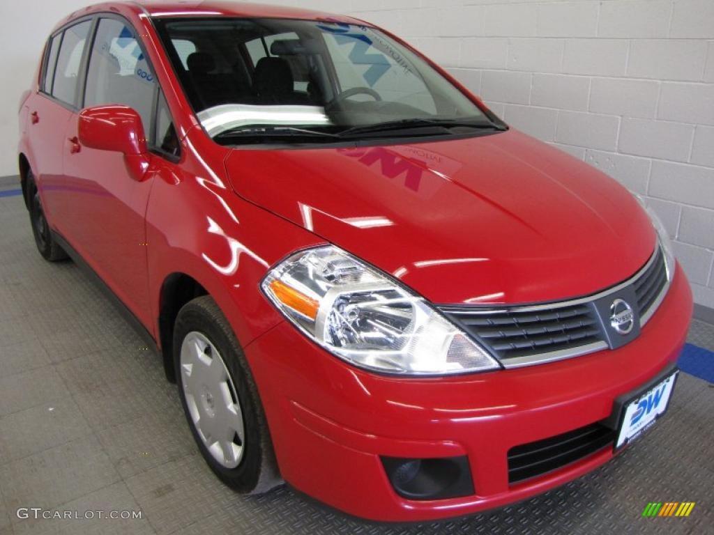2009 red alert nissan versa 1 8 s hatchback 49856434. Black Bedroom Furniture Sets. Home Design Ideas
