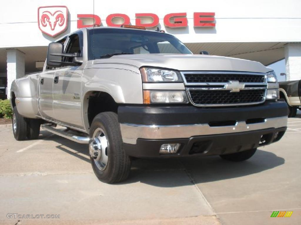 2006 silver birch metallic chevrolet silverado 3500 lt crew cab 4x4 dually 49856462 gtcarlot. Black Bedroom Furniture Sets. Home Design Ideas