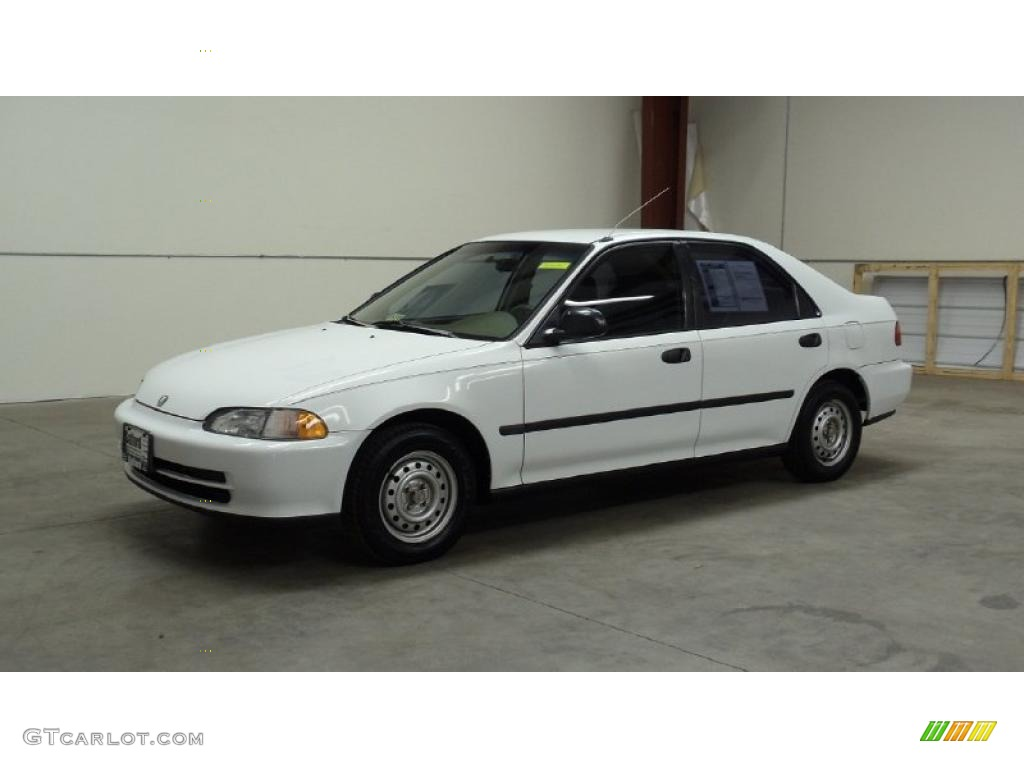 1995 frost white honda civic dx sedan 49856636 car color galleries. Black Bedroom Furniture Sets. Home Design Ideas