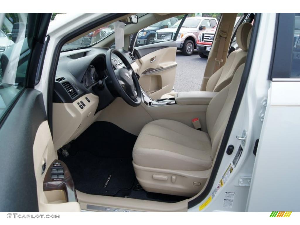 ivory interior 2009 toyota venza awd photo 49895339. Black Bedroom Furniture Sets. Home Design Ideas