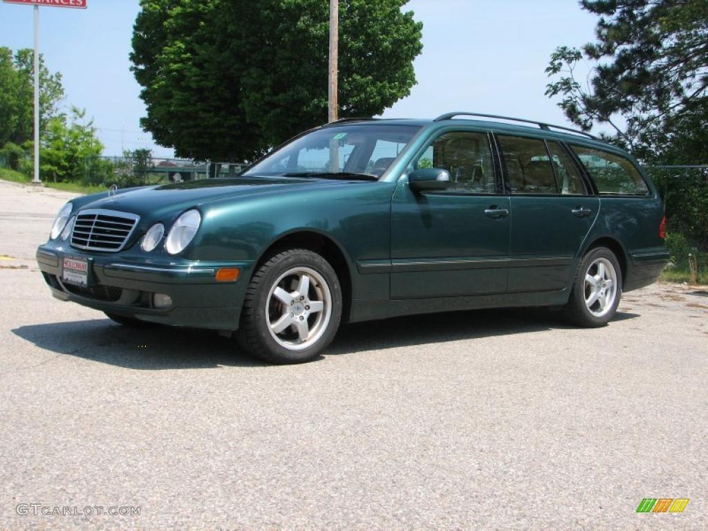 2001 aspen green metallic mercedes benz e 320 4matic wagon for Mercedes benz green