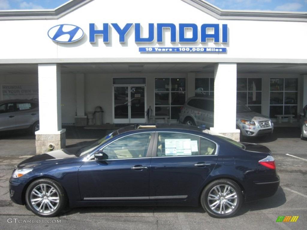 2011 Sapphire Blue Pearl Hyundai Genesis 4 6 Sedan