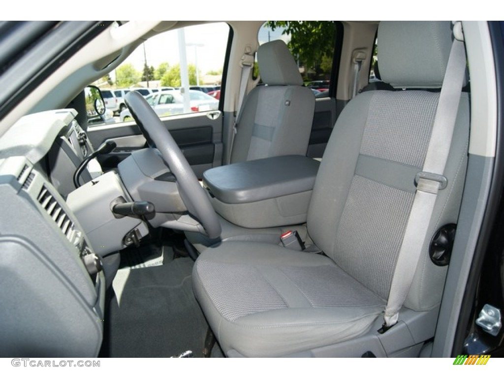Medium Slate Gray Interior 2008 Dodge Ram 1500 Big Horn Edition Quad Cab 4x4 Photo 49912290