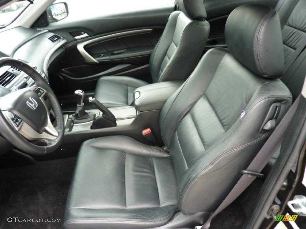 Black Interior 2008 Honda Accord Ex L Coupe Photo