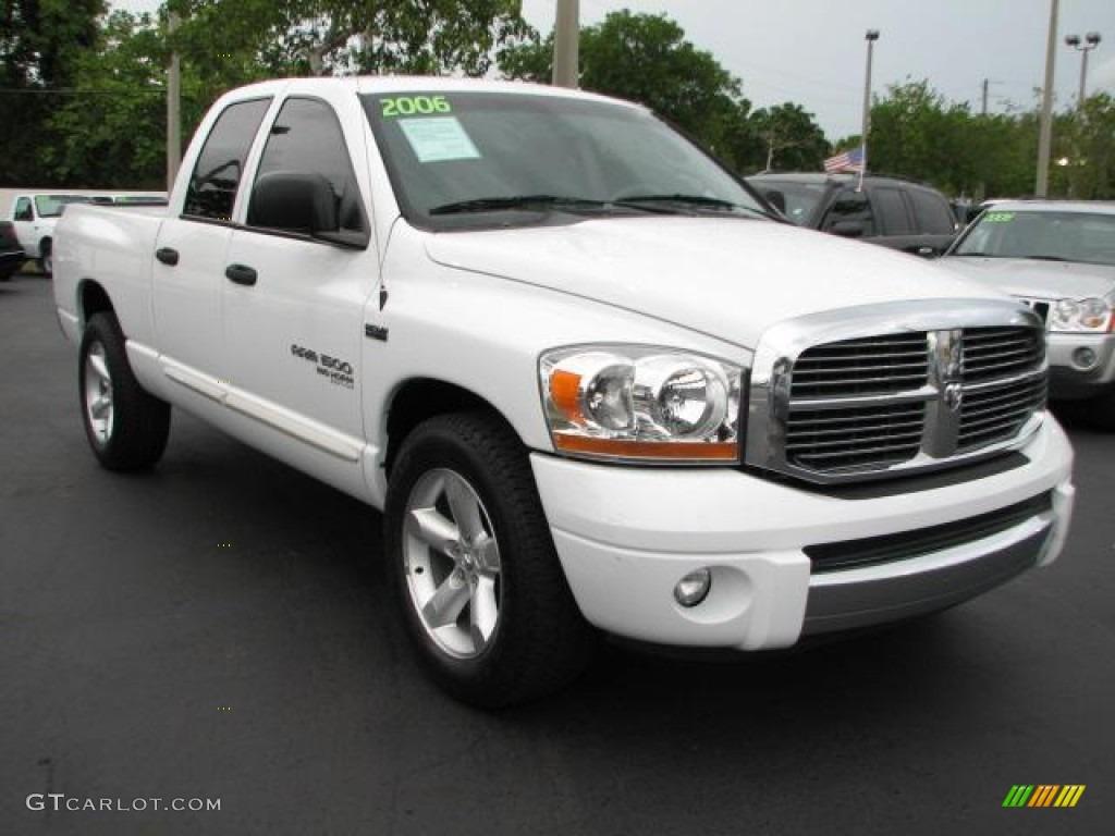 2006 Ram 1500 Big Horn Edition Quad Cab - Bright White / Medium Slate Gray photo #1