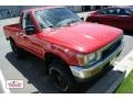 Cardinal Red 1991 Toyota Pickup Deluxe Regular Cab 4x4