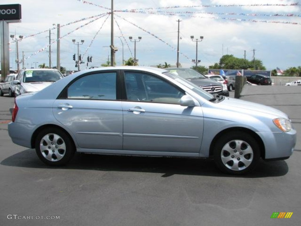 ice blue 2004 kia spectra lx sedan exterior photo. Black Bedroom Furniture Sets. Home Design Ideas