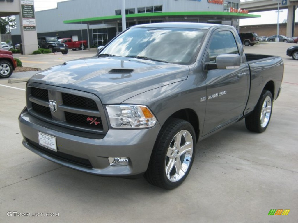 2011 mineral gray metallic dodge ram 1500 sport r t regular cab 49937756 car. Black Bedroom Furniture Sets. Home Design Ideas
