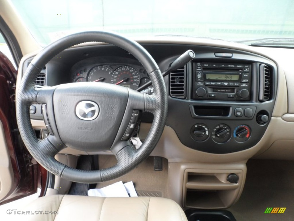 2002 mazda tribute lx v6 beige dashboard photo 49949255. Black Bedroom Furniture Sets. Home Design Ideas