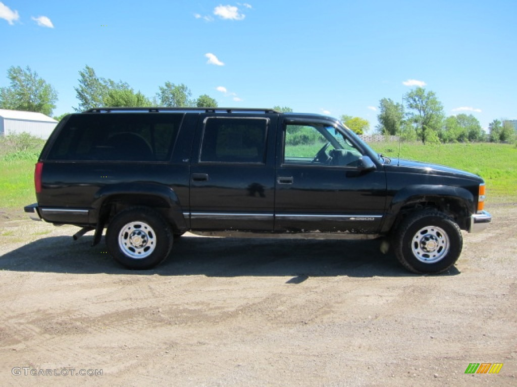 Onyx black 1998 chevrolet suburban k2500 ls 4x4 exterior photo 49955372