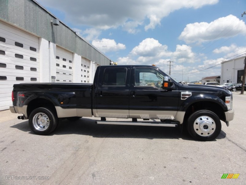 Black 2009 ford f450 super duty king ranch crew cab 4x4 dually exterior photo 49966131