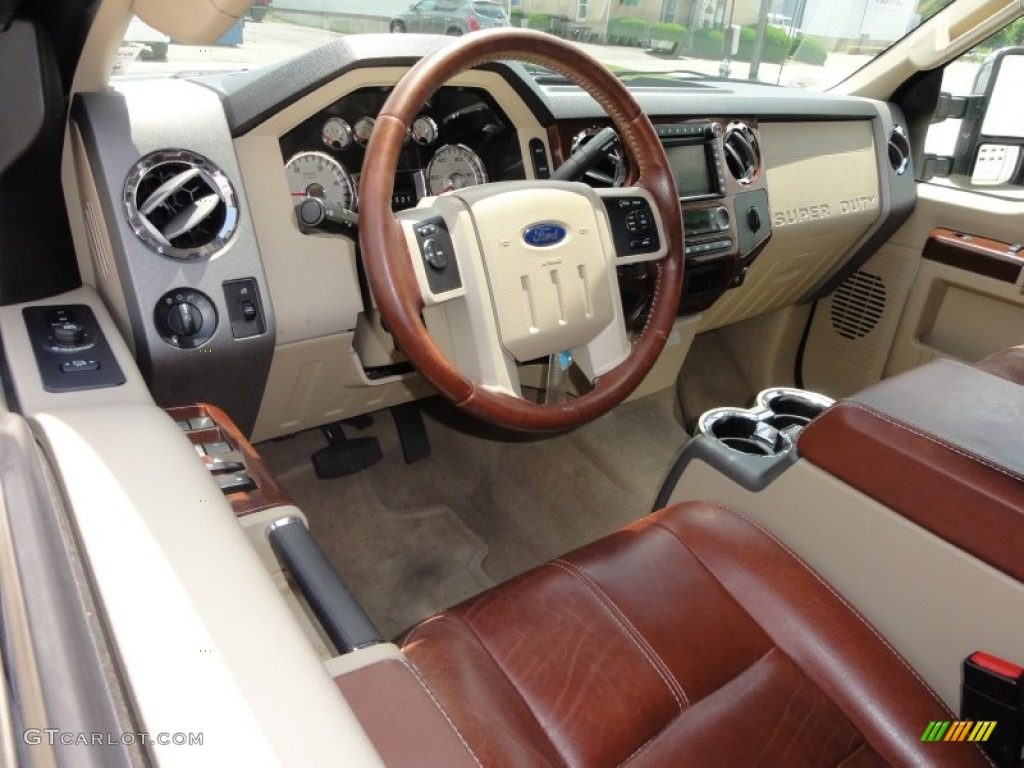 Chaparral Leather Interior 2009 Ford F450 Super Duty King Ranch Crew Cab 4x4 Dually Photo