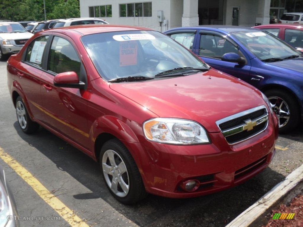 2010 Sport Red Chevrolet Aveo LT Sedan 49950230  GTCarLotcom