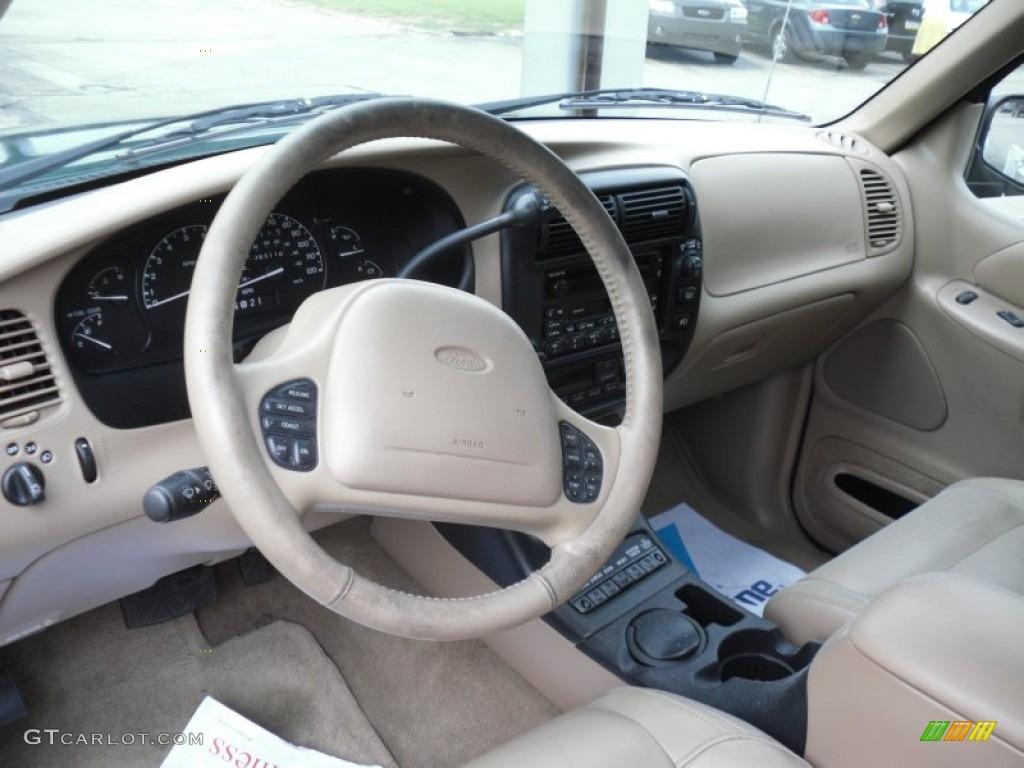 Medium Prairie Tan Interior 2000 Ford Explorer Eddie Bauer 4x4 Photo 49972608: 2000 ford explorer interior parts