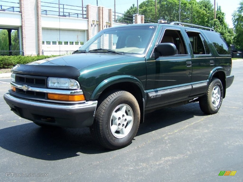 2001 Forest Green Metallic Chevrolet Blazer Ls 4x4 49950534 Photo 10 Gtcarlot Com Car Color Galleries
