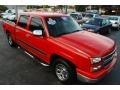 2006 Victory Red Chevrolet Silverado 1500 LS Crew Cab  photo #3