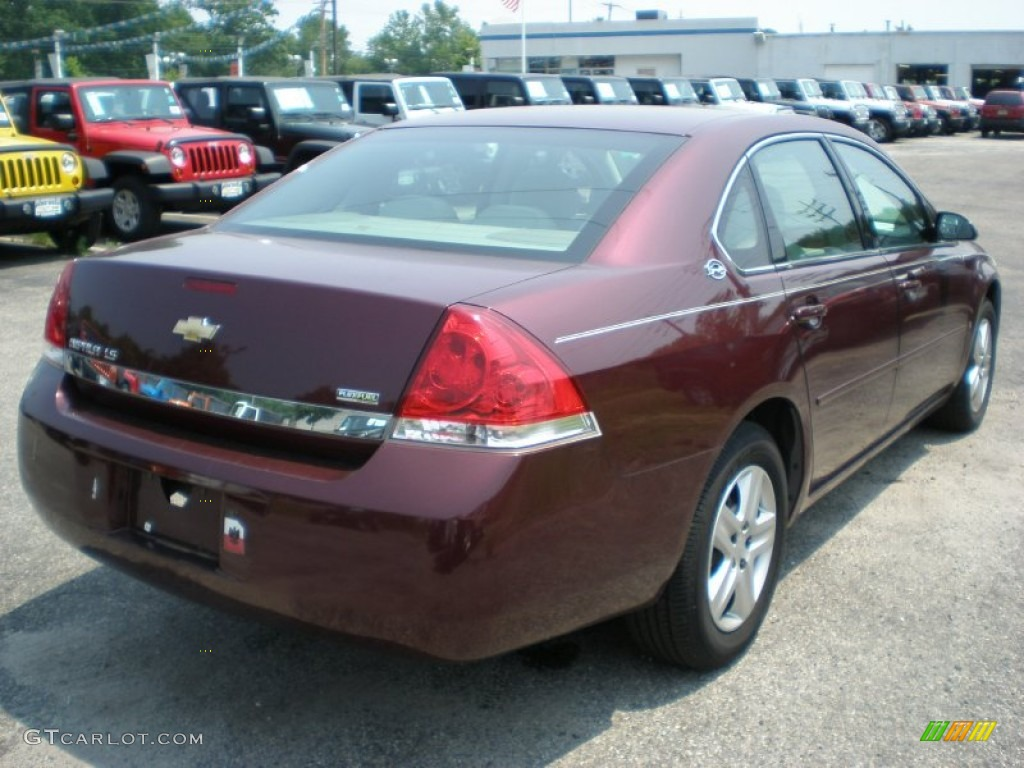 Bordeaux Red 2007 Chevrolet Impala Ls Exterior Photo 50005438