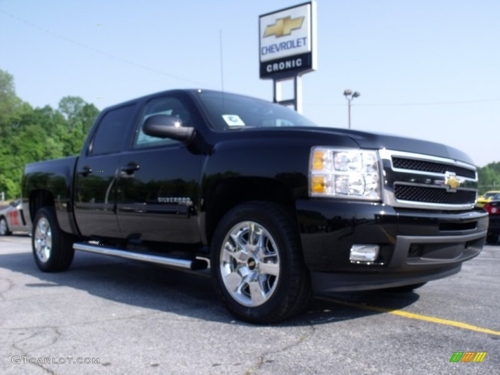 2011 Silverado 1500 LTZ Crew Cab - Black / Dark Cashmere/Light Cashmere photo #1
