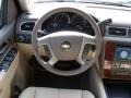 2011 Chevrolet Silverado 1500 Dark Cashmere/Light Cashmere Interior Steering Wheel Photo