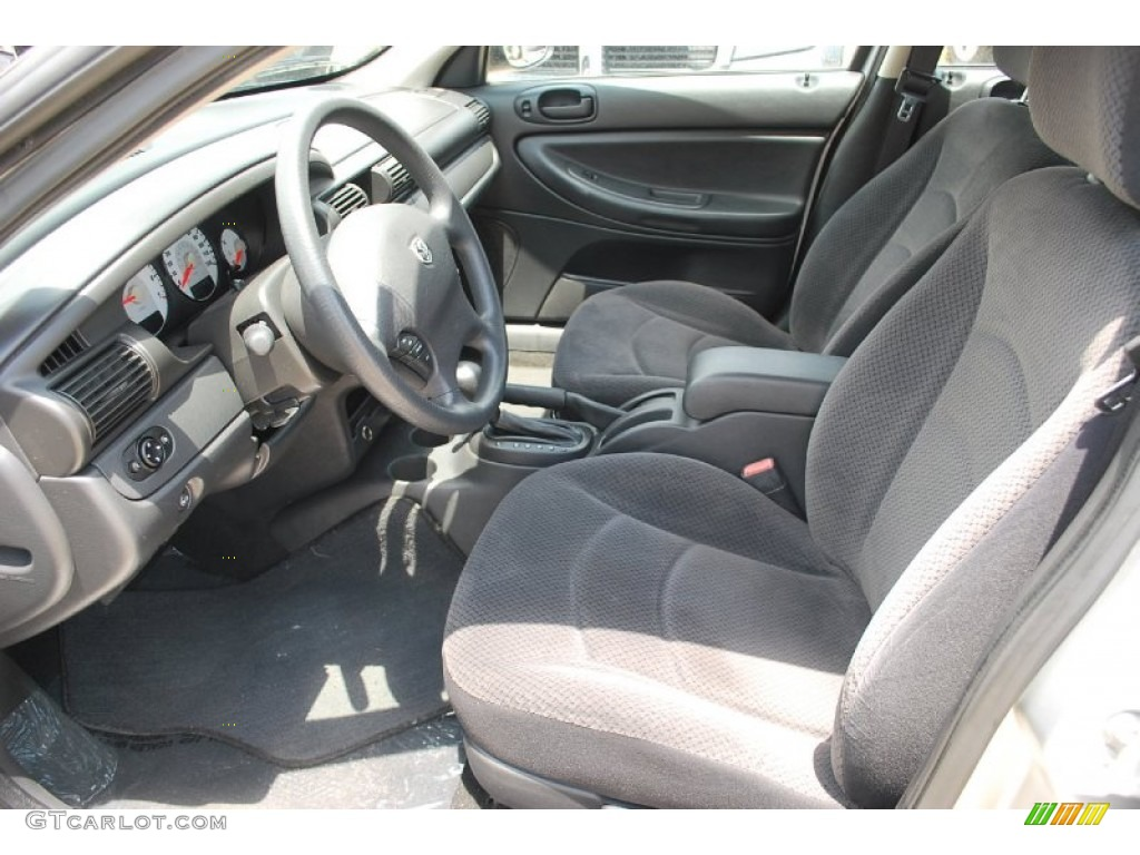 Dark Slate Grey Interior 2006 Dodge Stratus Sxt Sedan