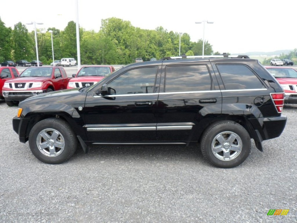 black 2007 jeep grand cherokee overland 4x4 exterior photo. Black Bedroom Furniture Sets. Home Design Ideas