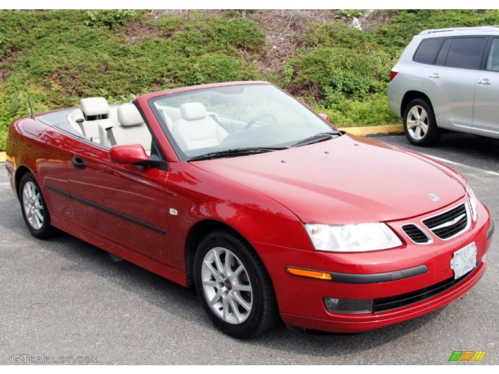 2005 9 3 Arc Convertible Chili Red Metallic Parchment Photo 4