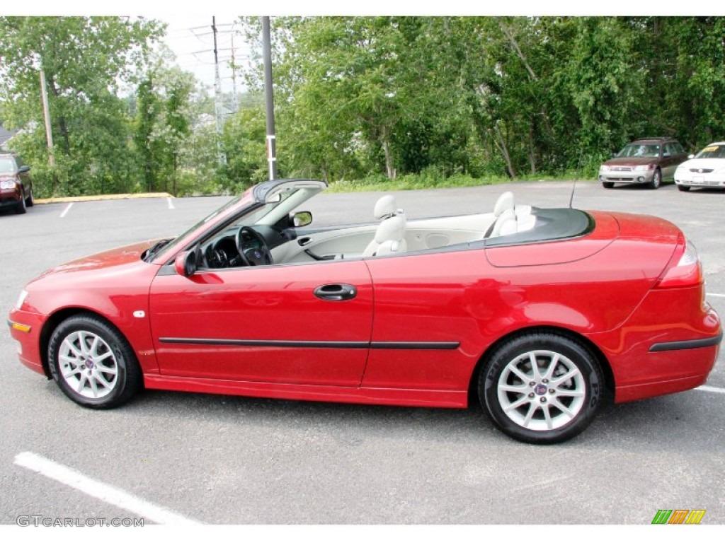 chili red metallic 2005 saab 9 3 arc convertible exterior. Black Bedroom Furniture Sets. Home Design Ideas