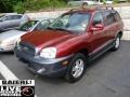 2004 Merlot Red Hyundai Santa Fe GLS 4WD  photo #3