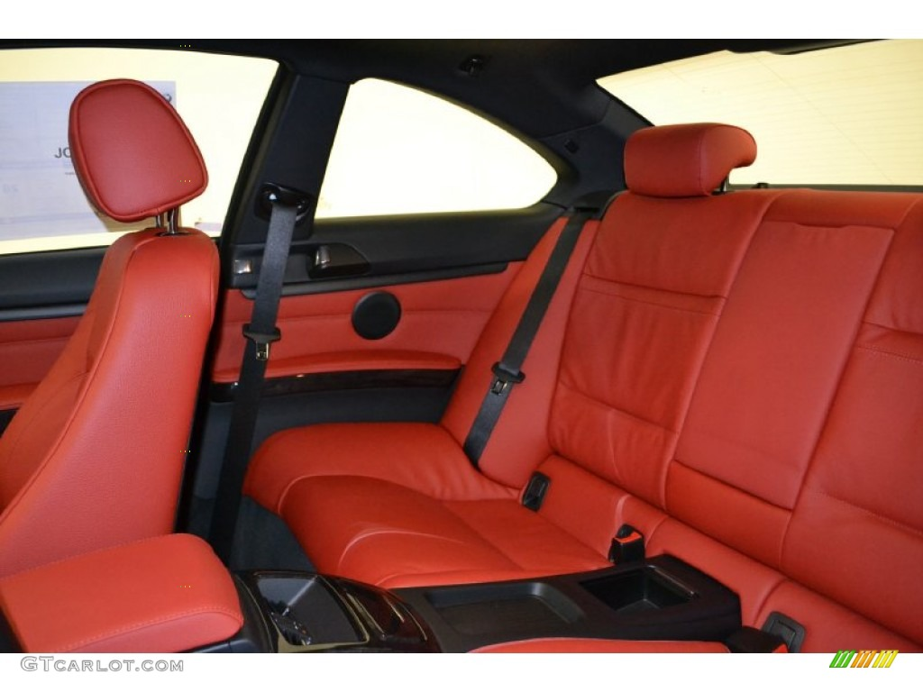Coral Red Black Dakota Leather Interior 2011 Bmw 3 Series 328i Coupe Photo 50054758