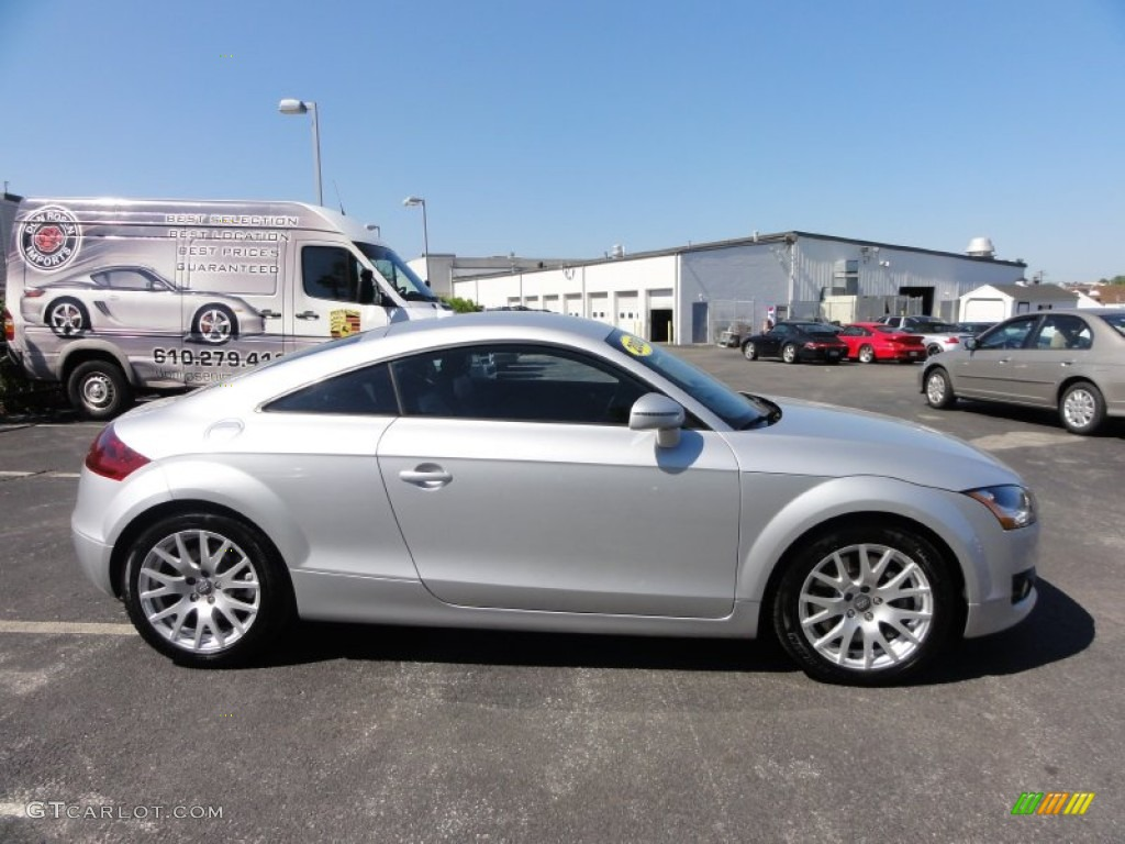 ice silver metallic 2008 audi tt 3 2 quattro coupe exterior photo 50059573. Black Bedroom Furniture Sets. Home Design Ideas