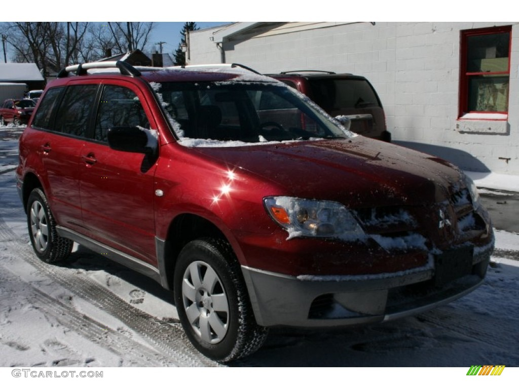 2006 rio red pearl mitsubishi outlander ls 4wd 50037698. Black Bedroom Furniture Sets. Home Design Ideas