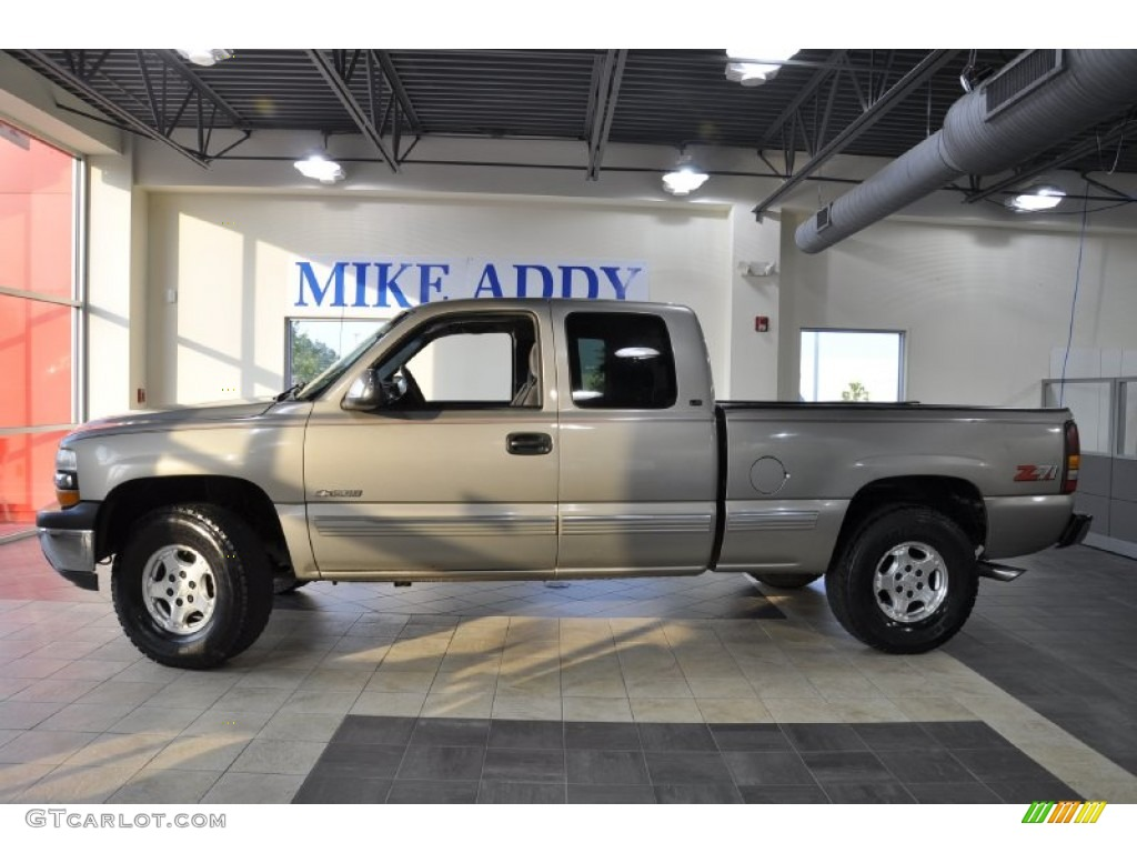 2000 Silverado 1500 Z71 Extended Cab 4x4 - Light Pewter Metallic / Graphite photo #1