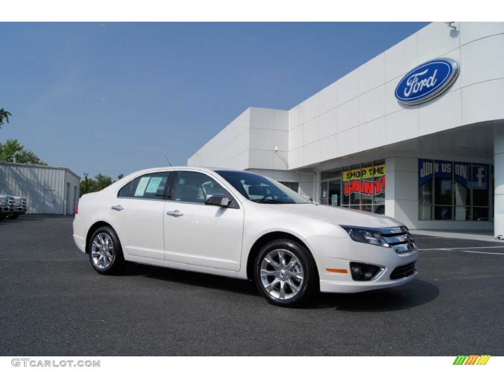 2011 fusion sel v6 white platinum tri coat charcoal black photo 1