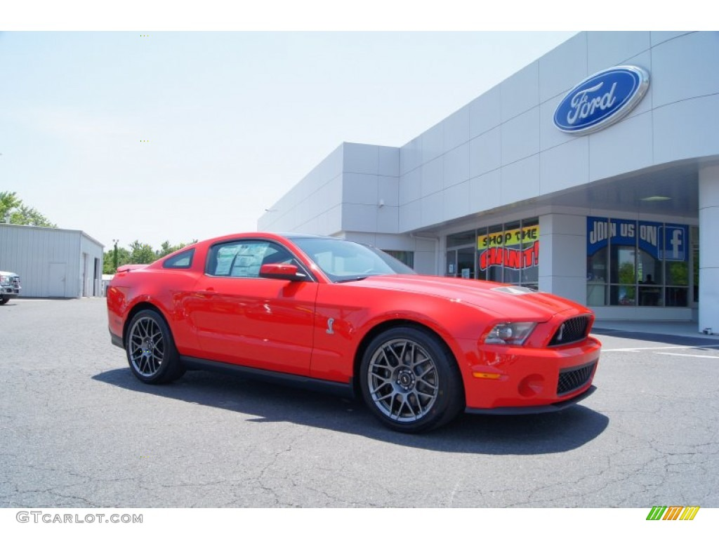 2012 race red ford mustang shelby gt500 svt performance package coupe 50085655 gtcarlot com