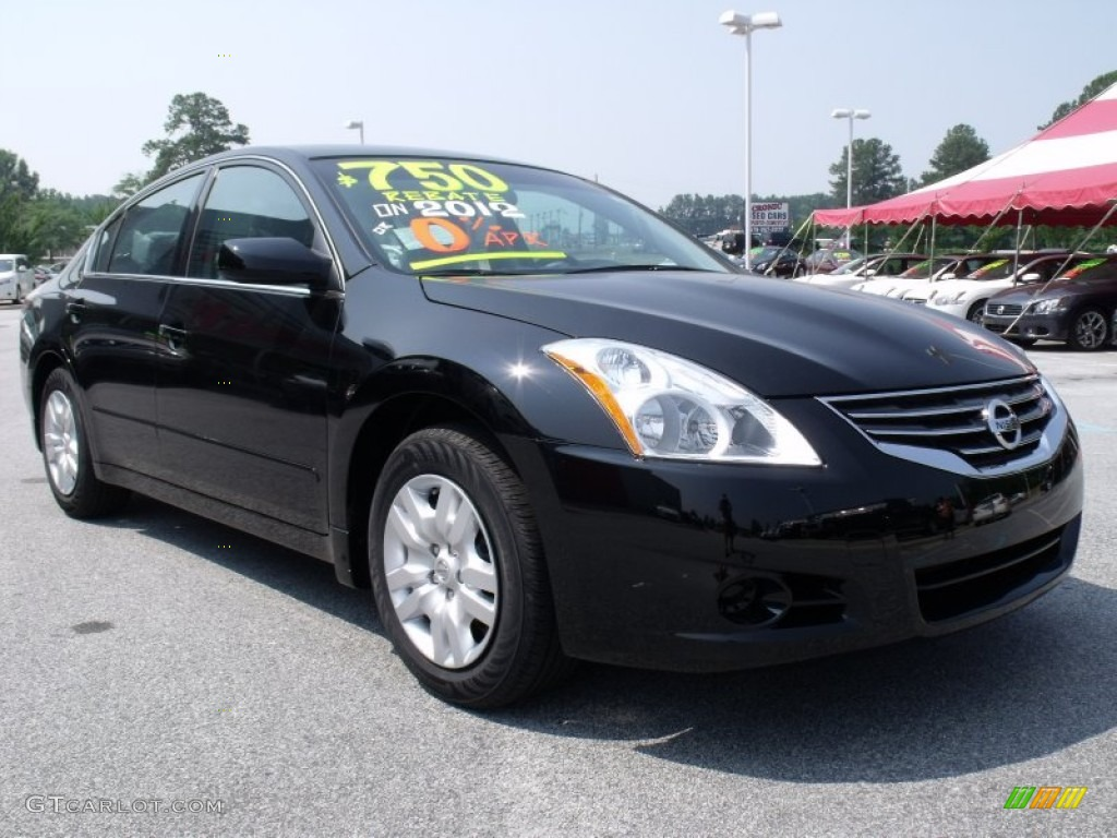 Super Black 2012 Nissan Altima 2 5 S Exterior Photo