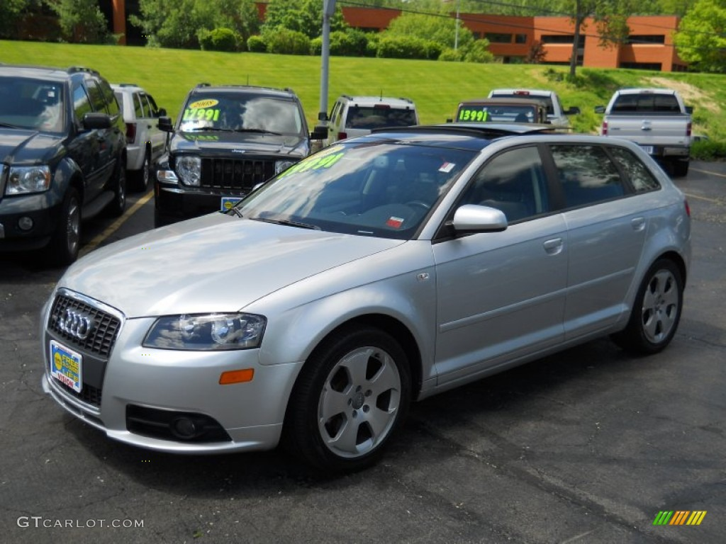 2006 light silver metallic audi a3 3 2 s line quattro 50086244 car color galleries. Black Bedroom Furniture Sets. Home Design Ideas