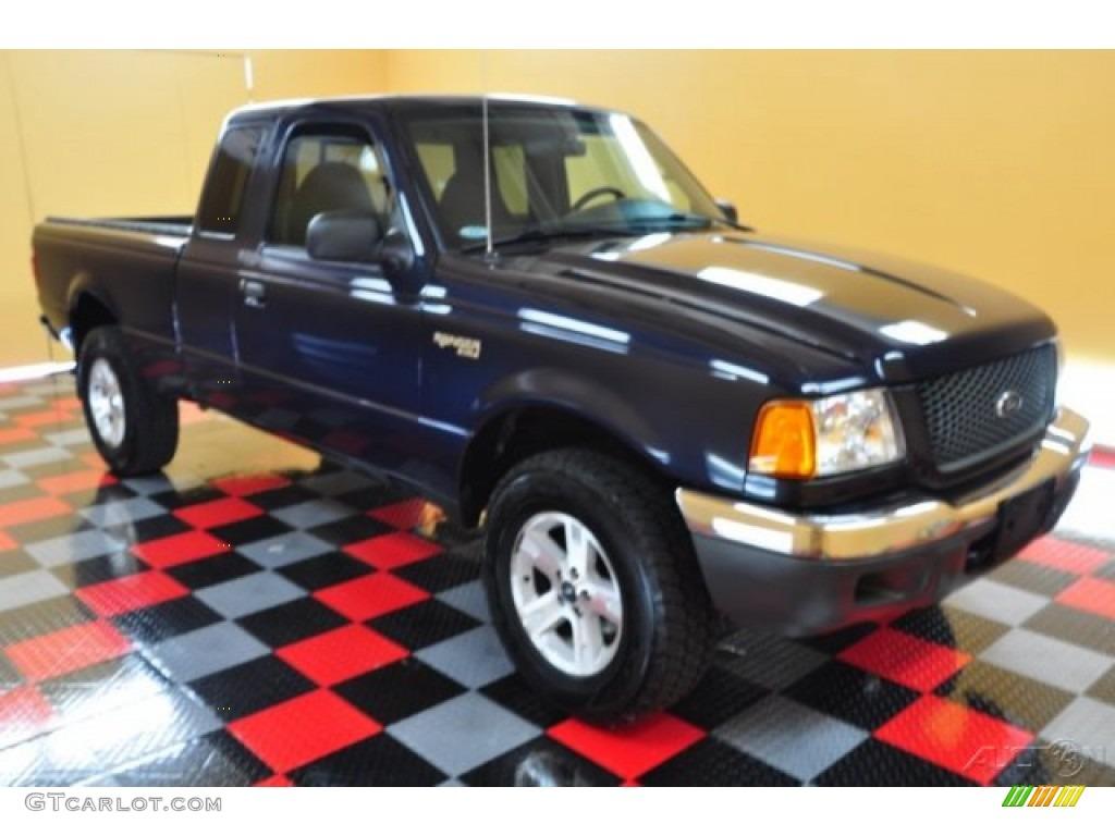 2003 Deep Wedgewood Blue Metallic Ford Ranger Xlt Supercab