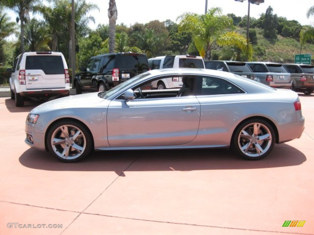 ice silver metallic 2009 audi a5 3 2 quattro coupe. Black Bedroom Furniture Sets. Home Design Ideas
