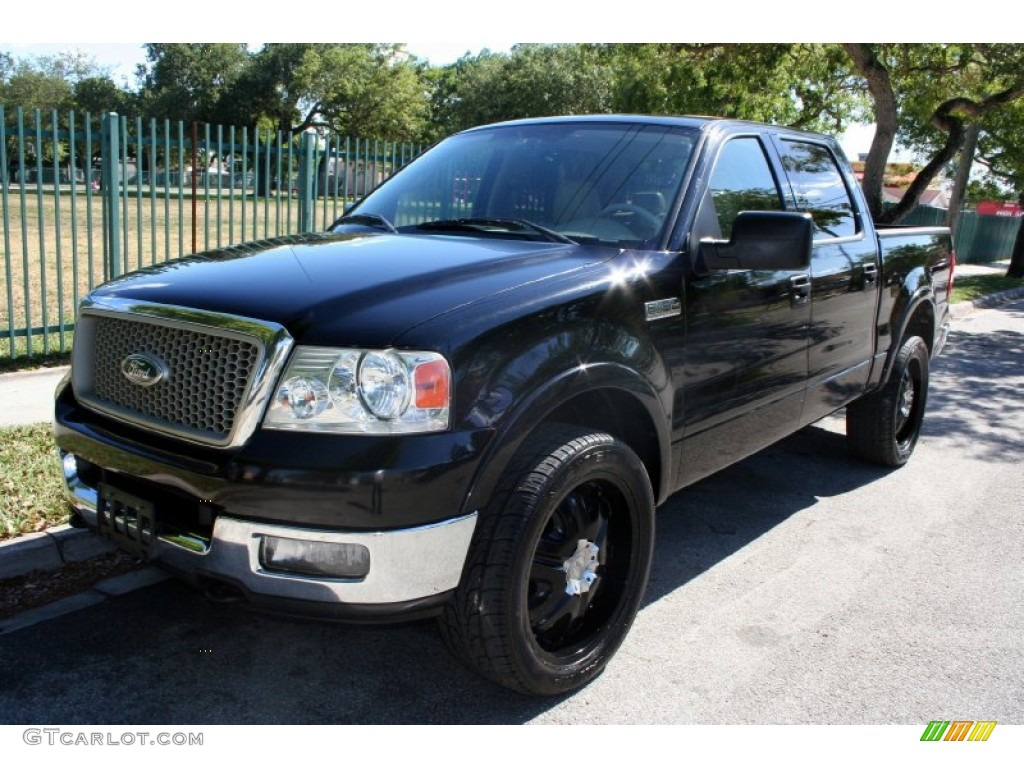black 2004 ford f150 lariat supercrew 4x4 exterior photo. Black Bedroom Furniture Sets. Home Design Ideas