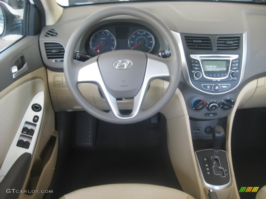 Beige Interior 2012 Hyundai Accent GLS 4 Door Photo ...