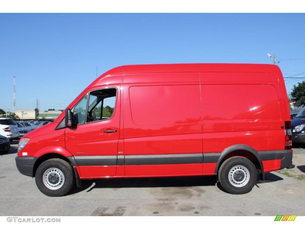 2011 flame red mercedes benz sprinter 2500 high roof cargo for Mercedes benz cargo van